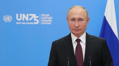 Poetin roept op tot vredesverdrag voor ruimte, biedt coronavaccin aan VN aan