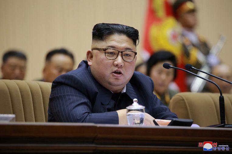 Kim Jong-un, staatshoofd van Noord-Korea.