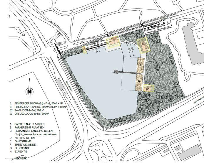 Het plan voor de IJzeren Man in  Eindhoven, een afbeelding uit het bestemmingsplan dat ter inzage ligt.