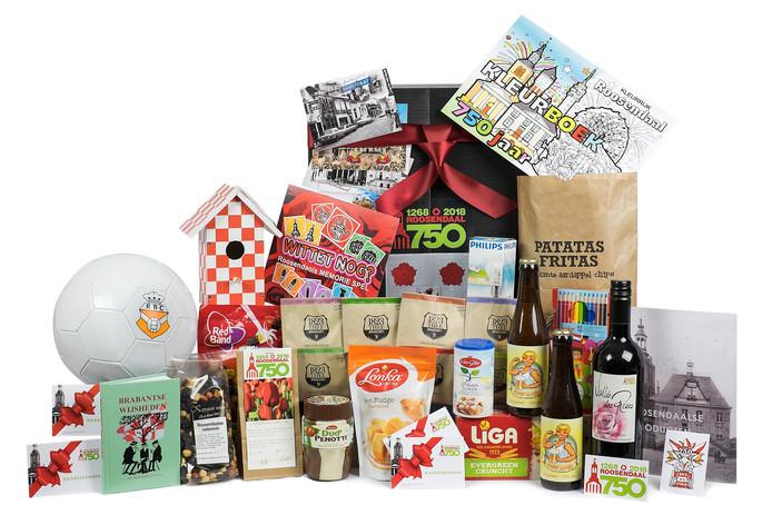 Geschenkpakket met Roosendaalse producten.