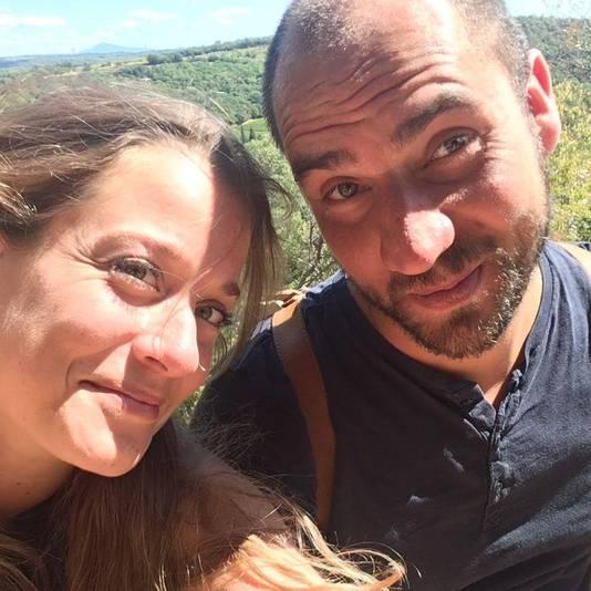 Maarten Overwater met zijn vriendin