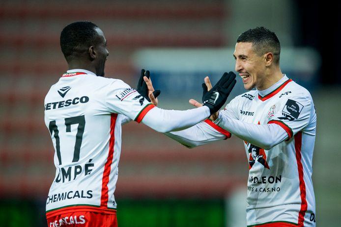 Le duo Bruno-Dompé offre un point à Zulte Waregem.