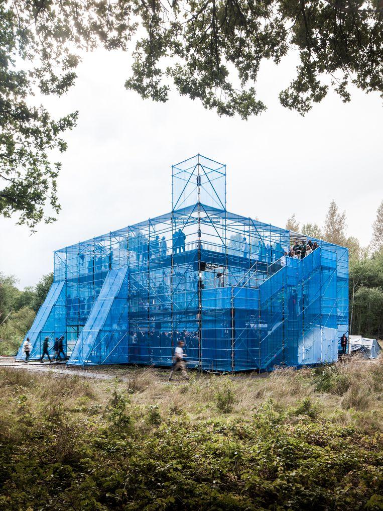 Het Newcastle-podium tijdens het Horst Arts & Music-festival, België, 2017. Beeld null