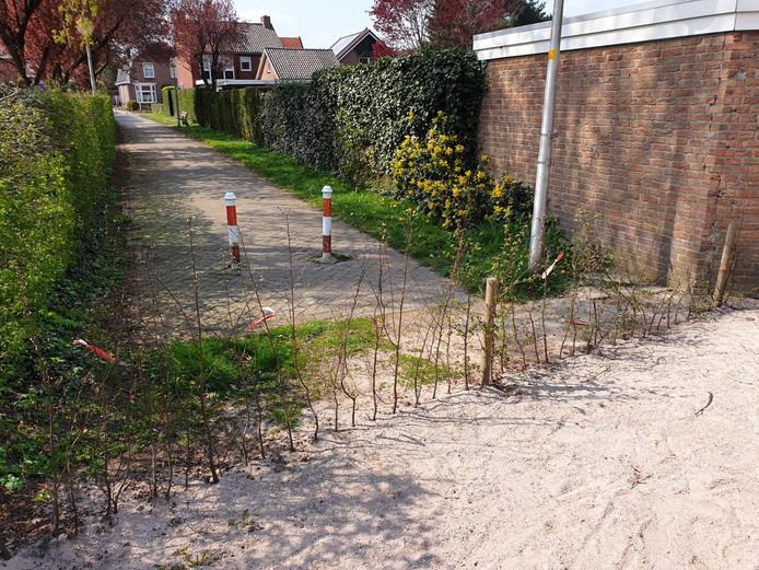 Het omstreden Kipwegje in Delden.
