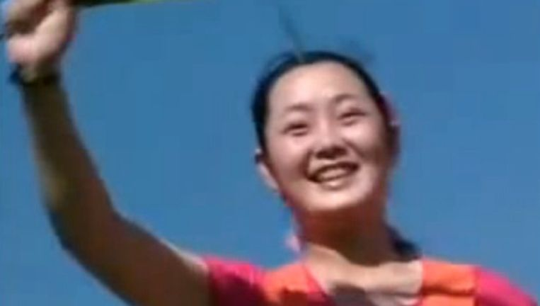 Hyon Song-Wol in een van haar videoclips