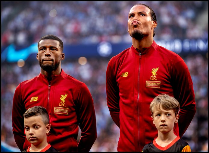 Georginio Wijnaldum (l) en Virgil van Dijk voor de Champions League-finale van vorig jaar. Eerste prijs sport serie Zilveren Camera 2019