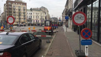 Ontbrekende omleiding kwelt fietser Frankrijklei