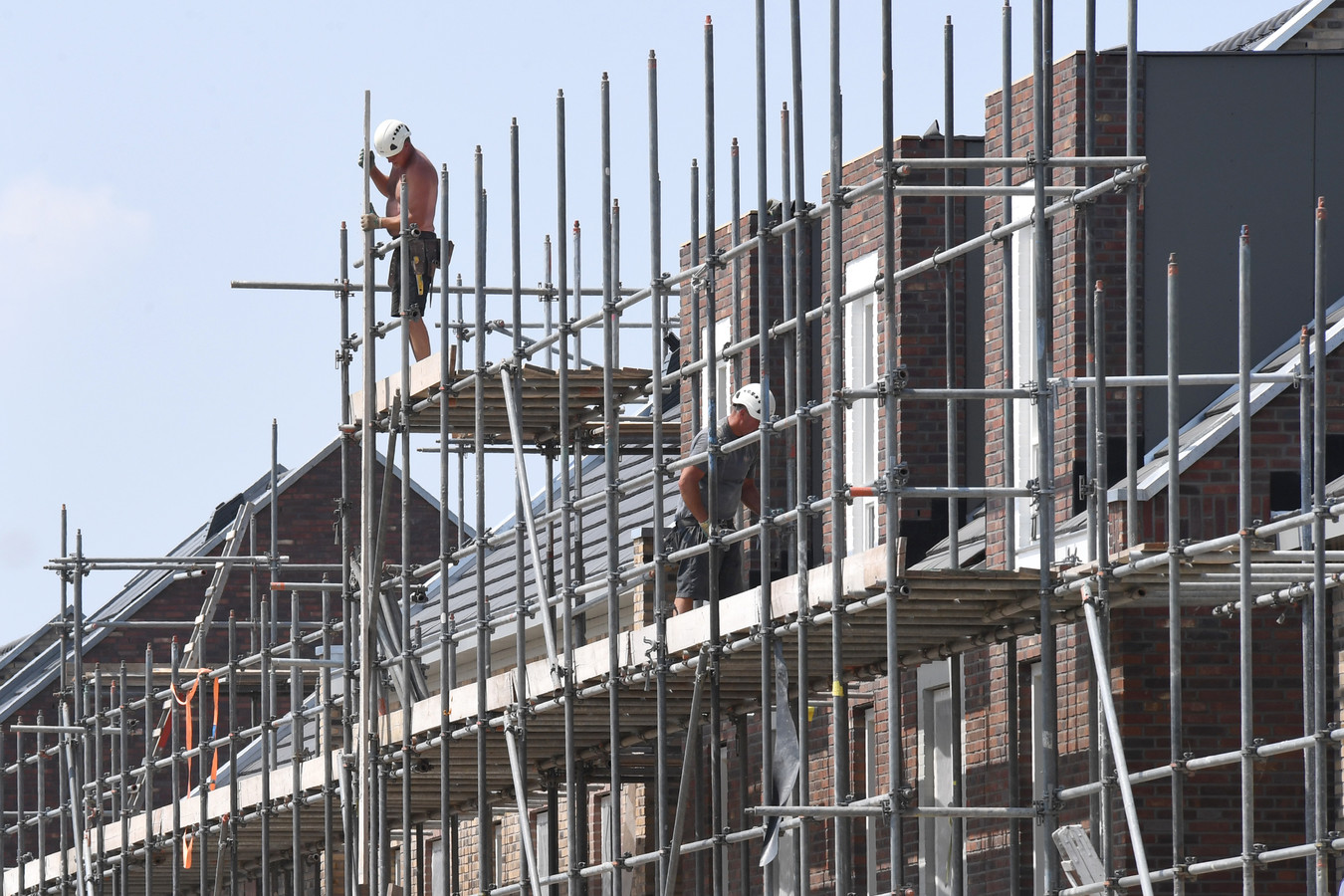 Nieuwbouw in de Cuijkse groeiwijk Heeswijkse Kampen.