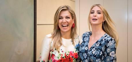 Máxima en Ivanka praten samen over vrouwenrechten