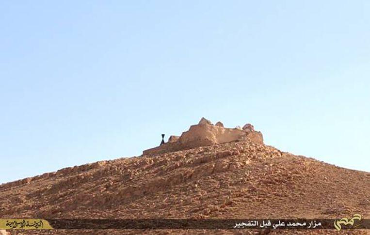 De tombe van Mohammed bin Ali, hier nog onbeschadigd.