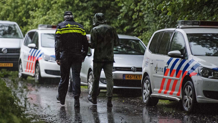 Korpschef Frank Paauw van de politie Rotterdam-Rijnmond bij het Beatrixpark in Schiedam.
