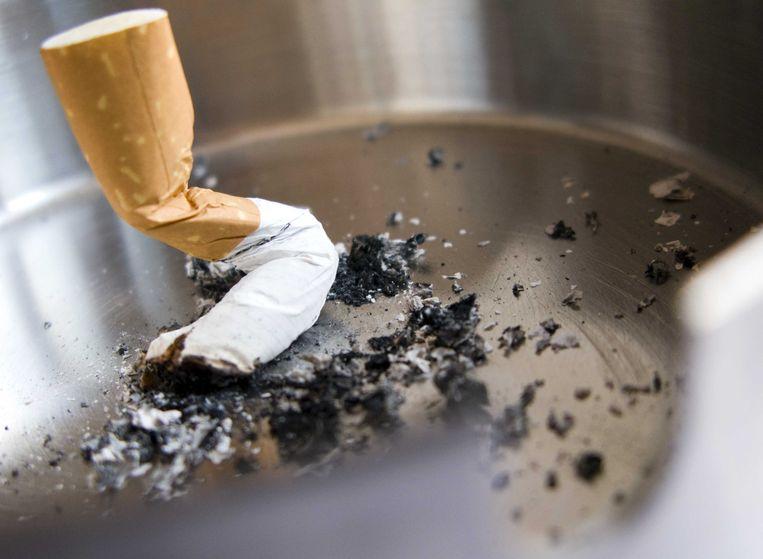 Beeld ter illustratie, uitgedoofde sigaret.