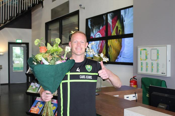 Tom Beugelsdijk van ADO Den Haag kan de ruiker van een FC Utrecht-fan duidelijk waarderen.