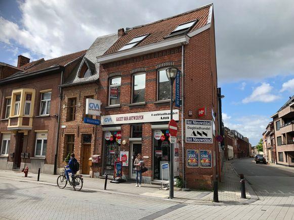 De krantenwinkel van Ann Versmissen in de Patersstraat