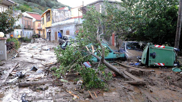 Modderverschuivingen op Sicilië door noodweer in 2011. Beeld EPA
