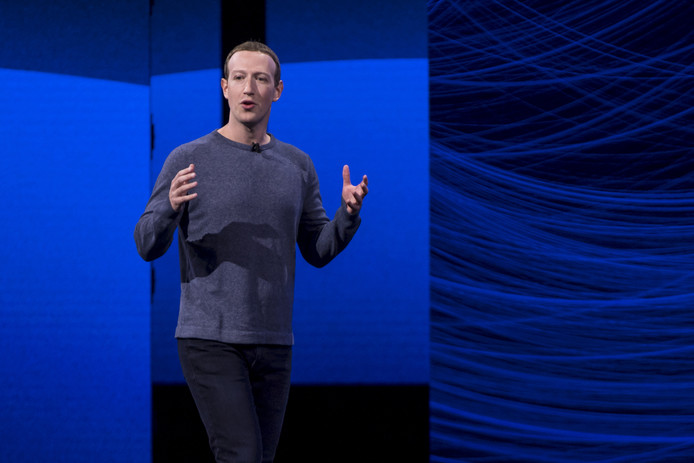 Mark Zuckerberg, CEO en oprichter van Facebook.