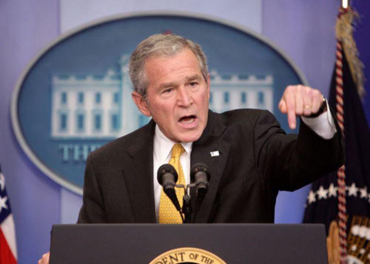 President George W. Bush heeft zijn handtekening gezet onder de terdoodveroordeling van een Amerikaanse militair. Foto ANP Beeld