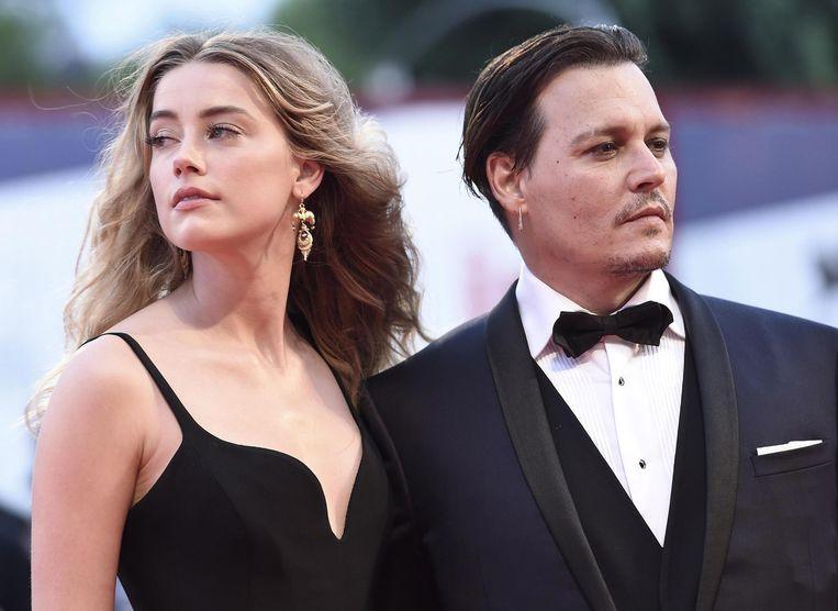 Johnny Depp en Amber Heard toen ze nog een koppel waren op 4 september 2015.