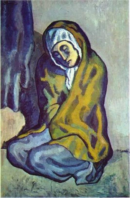 Het schilderij De Knielende Vrouw (La Misereuse Accroupie)