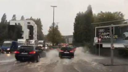 Intense buien zorgen voor wateroverlast: overheid activeert noodnummer 1722