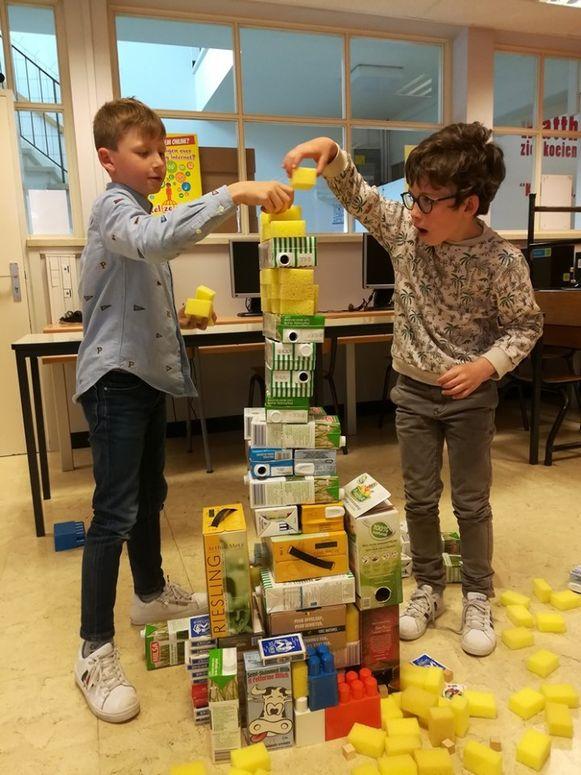 De leerlingen konden werken in een pop-up atelier