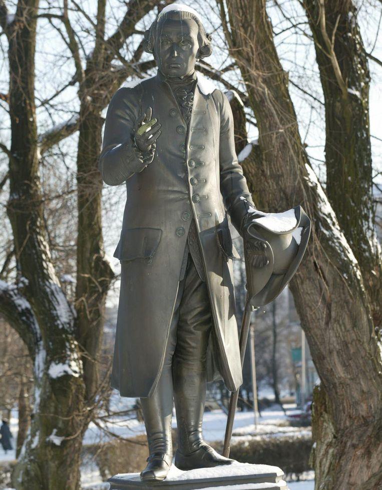 Standbeeld van Verlichtingsfilosoof Immanuel Kant in het Russische Kaliningrad. Beeld afp