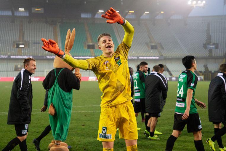 Nardi en co na de winst tegen Anderlecht.