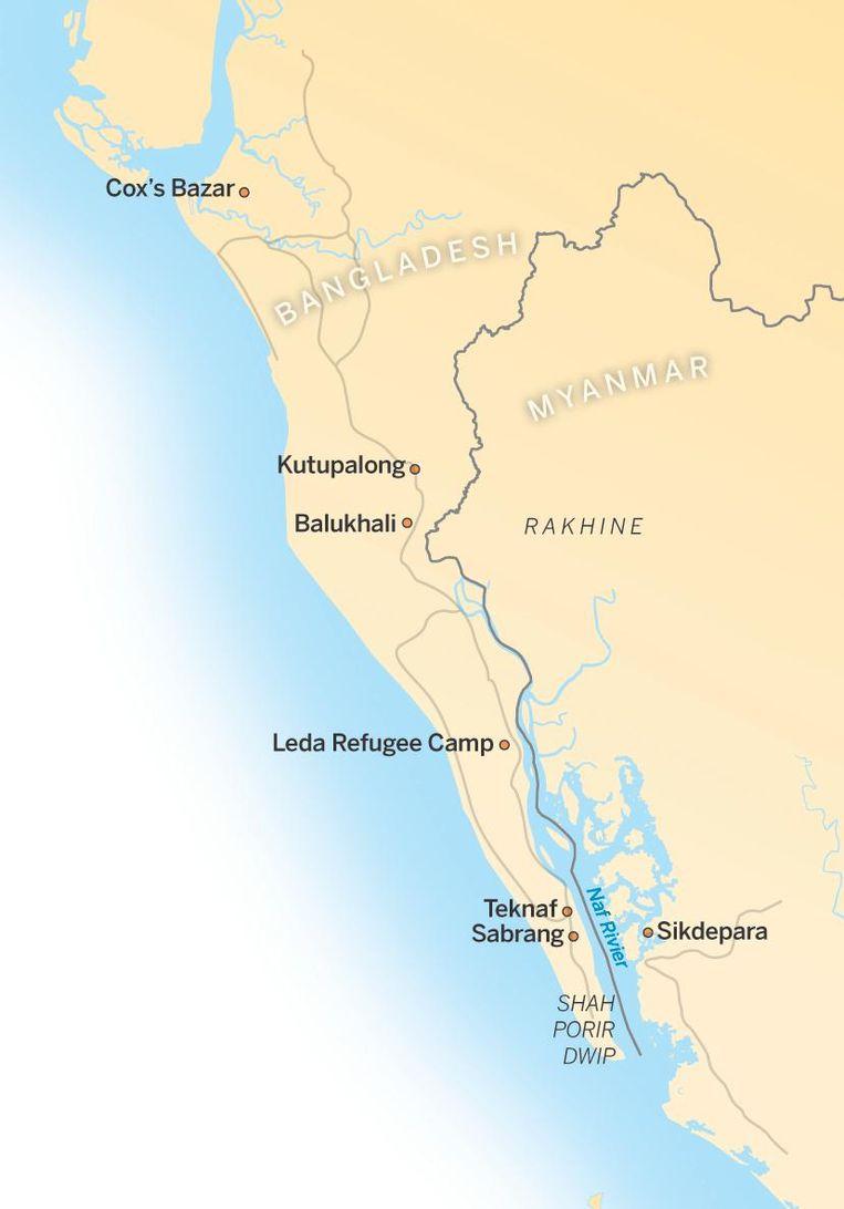 Kaart van het gebied Beeld de Volkskrant