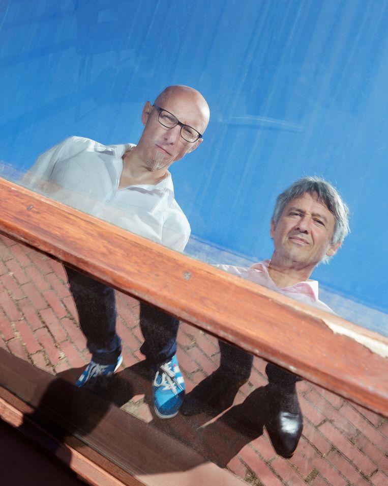 Alexander Pleijter en Peter Burger, factcheckers. Beeld Erik Smits