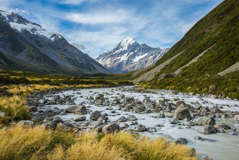 Mount Cook National Park in Nieuw-Zeeland.