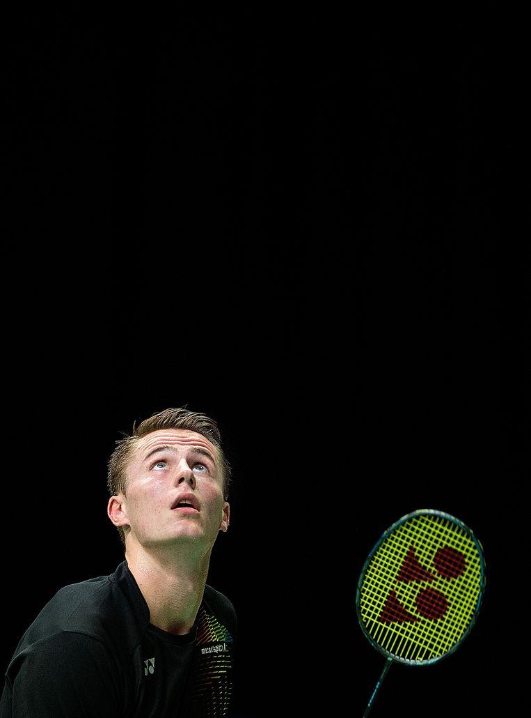 Mark Caljouw tijdens de Dutch Open in 2017. Beeld Klaas Jan van der Weij / de Volkskrant