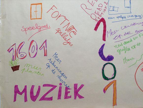 De kinderen van De Wegwijzer maakten ook tekeningen.
