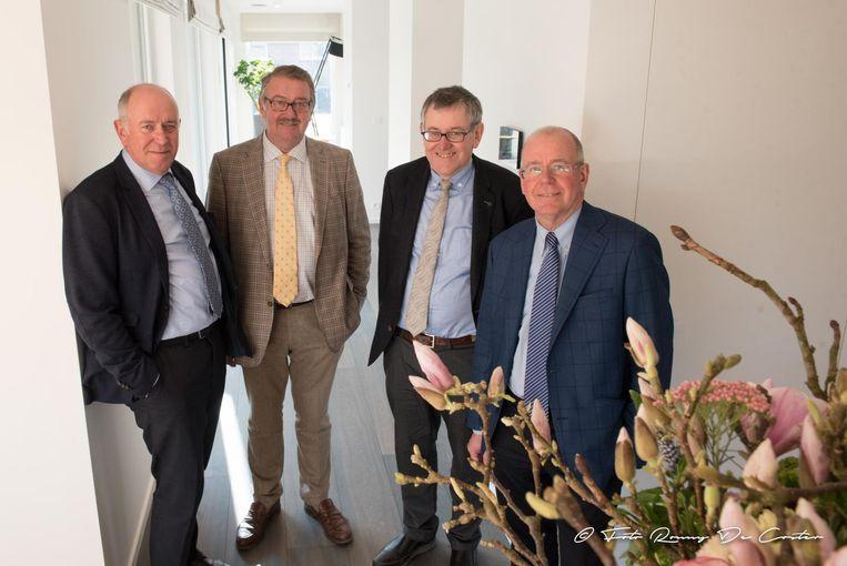 Rudy, Geert, Philippe en Eddy Delmulle van bouwonderneming Danilith.