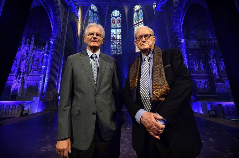De augustijner paters Louis Mulder en Pierre Stikkelbroeck zijn blij  dat de kerk geen trampolinezaal is geworden.  Beeld null
