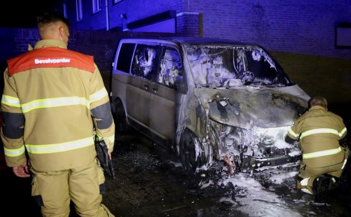 Autobrand aan de Arhnemstraat in Den Bosch.