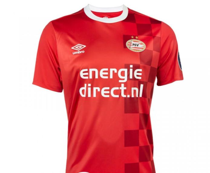 Het 'afscheidsshirt', waarmee huidig hoofdsponsor Energiedirect.nl wordt uitgeluid door PSV.