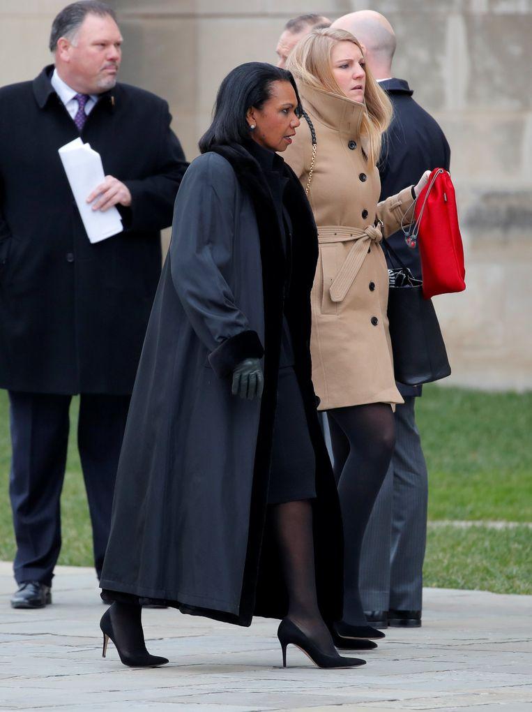 Ook voormalig buitenlandminister Condoleezza Rice komt afscheid nemen.