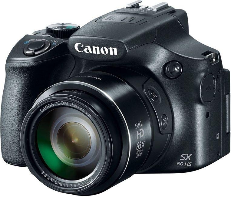 Het grootste optische zoombereik haal je met de Canon PowerShot SX60 HS.