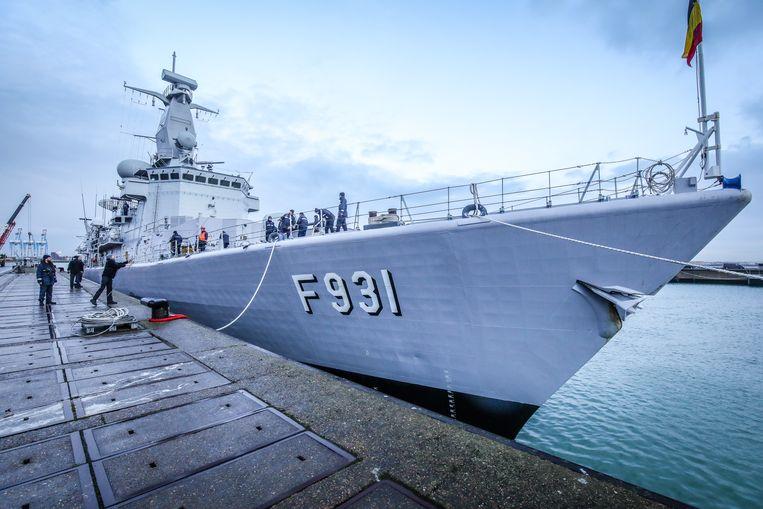 Zeebrugge aankomst fregat F931 Louise-Marie