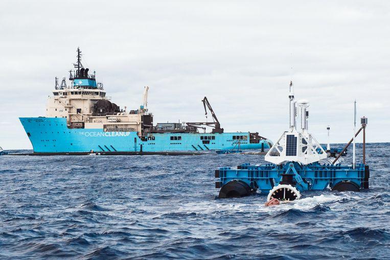 The Ocean Cleanup. Beeld