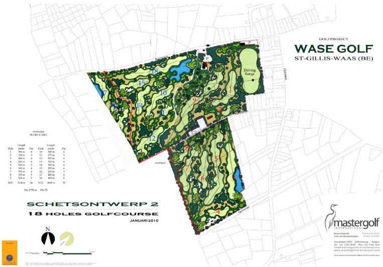 Het ontwerp voorziet in drie fasen een golfterrein van liefst 18 holes