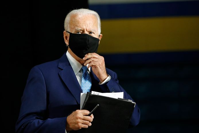 De 77-jarige Joe Biden, de Democratische uitdager van Donald Trump bij de presidentsverkiezingen in november.