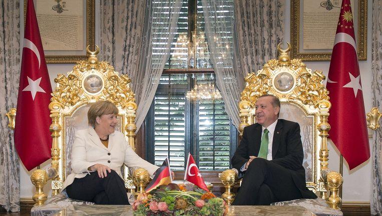 Angela Merkel en Recep Tayyip Erdo¿an Beeld reuters
