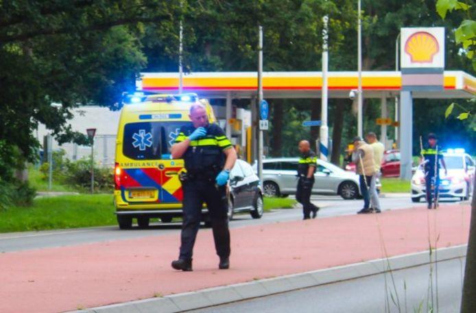 Hulpdiensten in actie bij een ongeval in de buurt van Warnsveld.