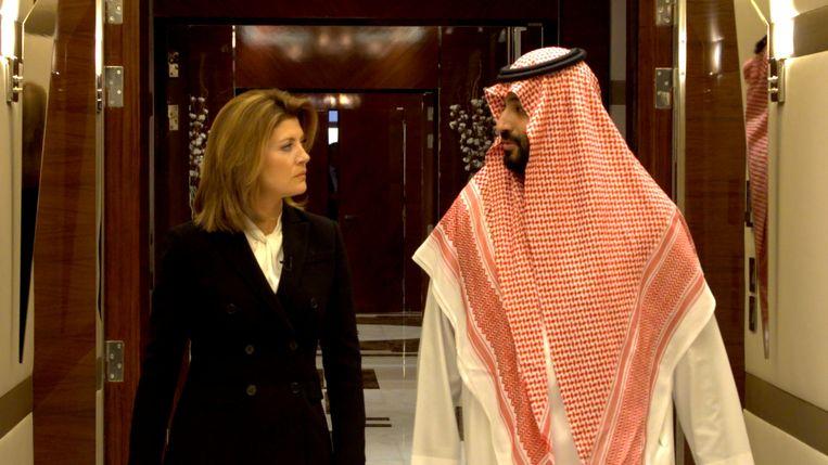 De Saudische kroonprins Mohammed bin Salman sprak met CBS-correspondent Norah O'Donnell. Beeld Reuters