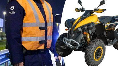 Man (48) met rijverbod ramt met gestolen quad politiecombi, heeft drugs op zak  én is onder invloed
