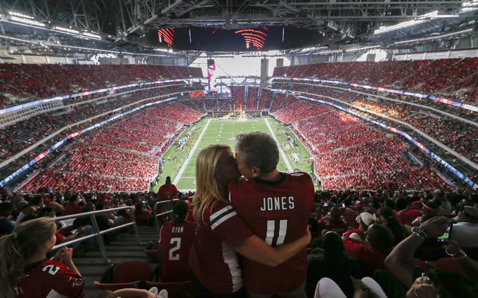 Het Mercedes-Benz Stadium in Atlanta.