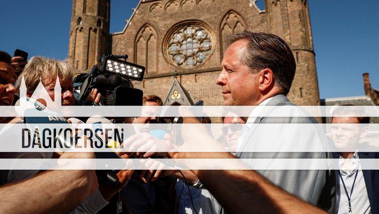 D66-leider Pechtold op het Binnenhof. Beeld ANP/de Volkskrant