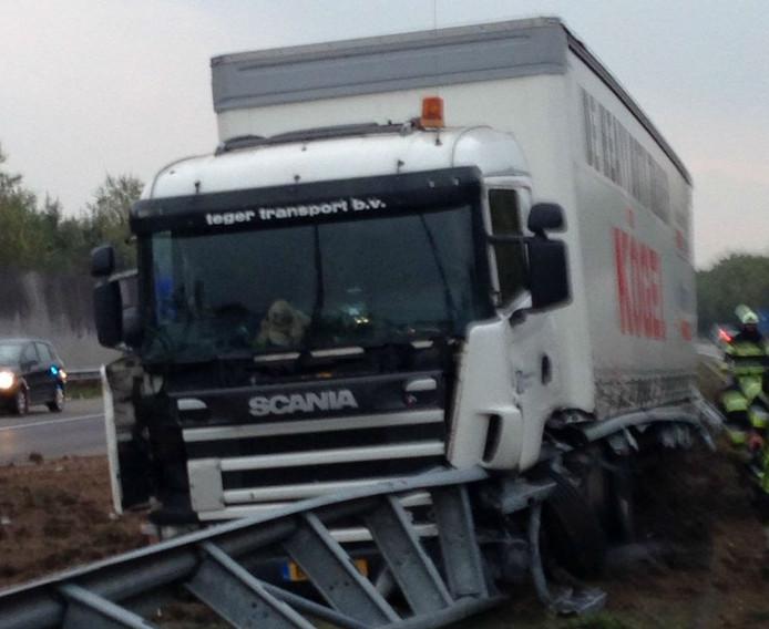 Ongeluk op de A59 bij Oss.