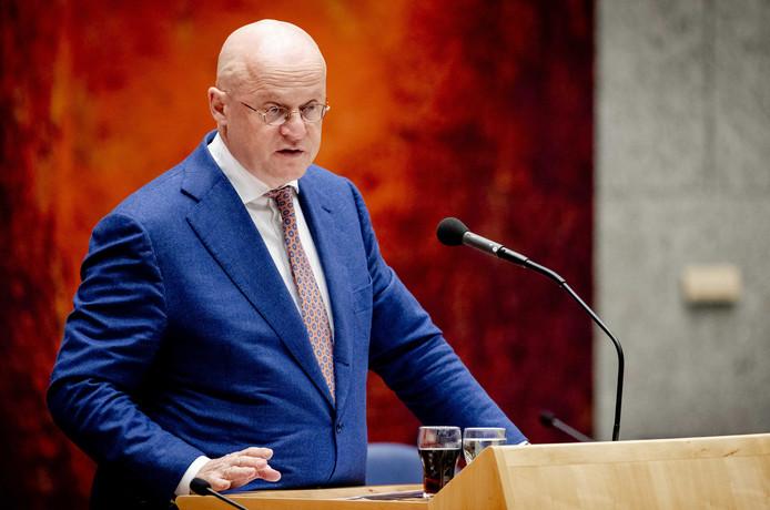 Minister Ferd Grapperhaus (Justitie en Veiligheid) in de Tweede Kamer.